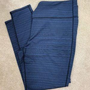 ATHLETA PLUS Blue Striped Tights size 2X